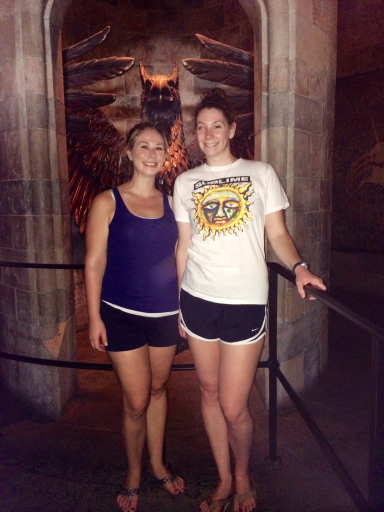 Kerry and I in Hogwarts